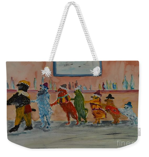 Dogs On The Town Weekender Tote Bag