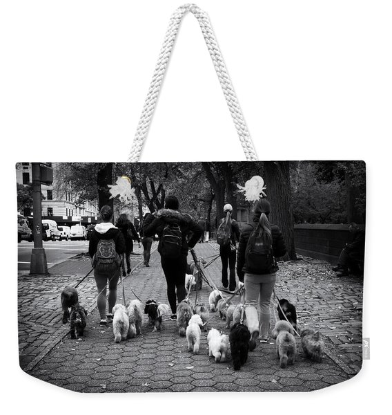 Dog Walking Weekender Tote Bag