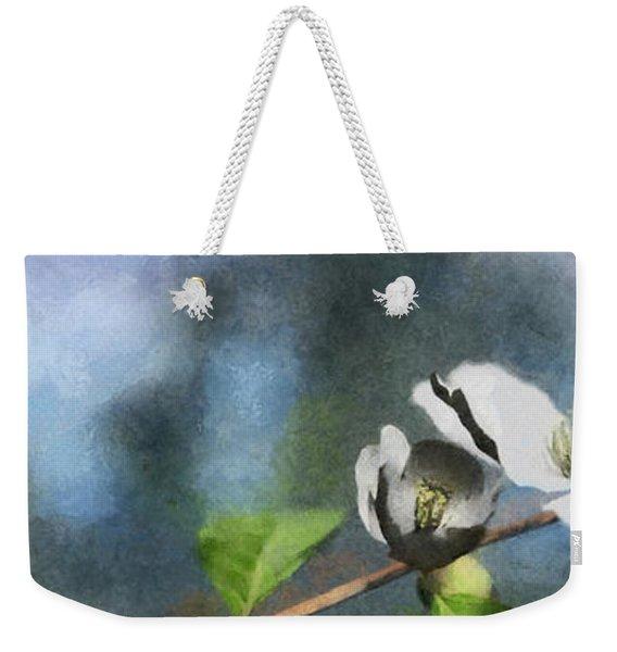 Dogwood Painted Weekender Tote Bag