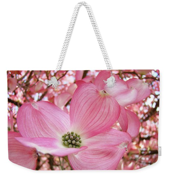Dogwood Tree 1 Pink Dogwood Flowers Artwork Art Prints Canvas Framed Cards Weekender Tote Bag