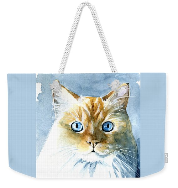 Doll Face Flame Point Himalayan Cat Painting Weekender Tote Bag