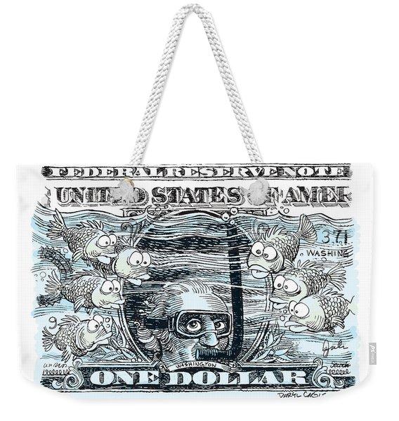 Dollar Submerged Weekender Tote Bag