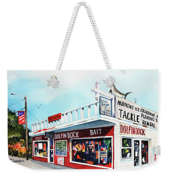 Dolphin Dock I Weekender Tote Bag