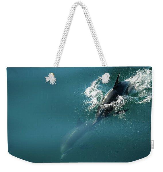 Dolphing Story Weekender Tote Bag