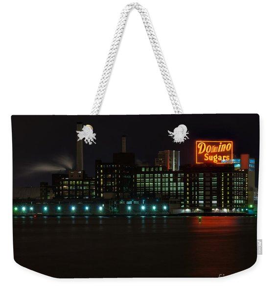 Domino Sugars Wide Weekender Tote Bag