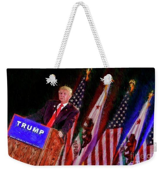 Donald Trump Make America Great Rally Weekender Tote Bag