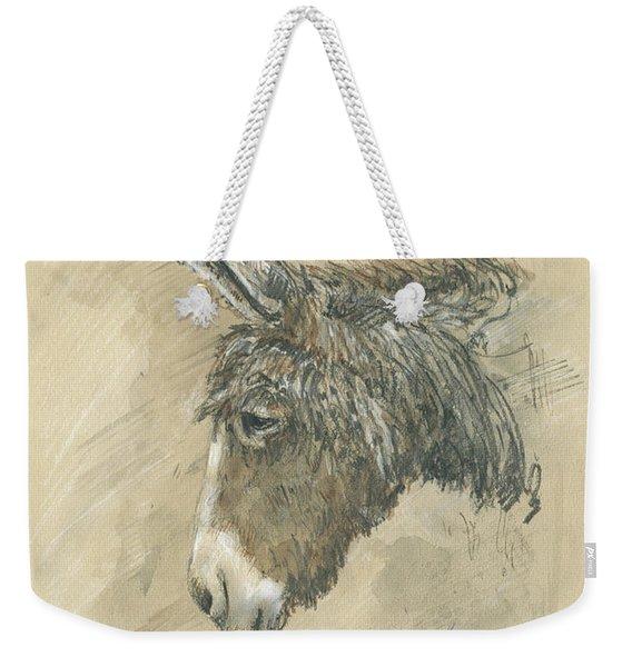 Donkey Portrait Weekender Tote Bag