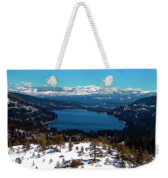 Donner Lake Sierra Nevadas Weekender Tote Bag