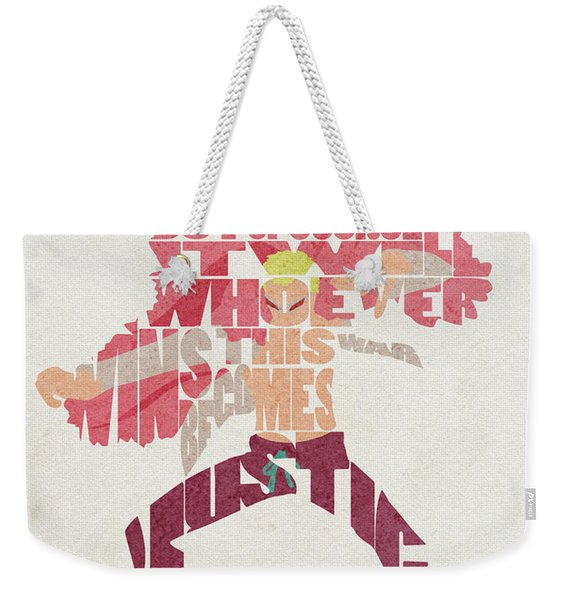 Donquixote Doflamingo Typography Art Weekender Tote Bag