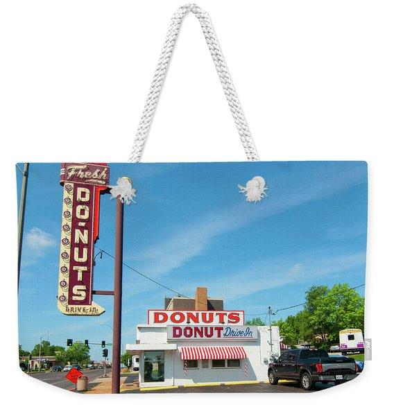 Donut Drive In Weekender Tote Bag