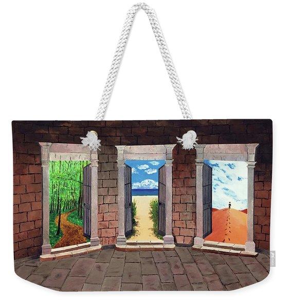 Door Number Three Weekender Tote Bag
