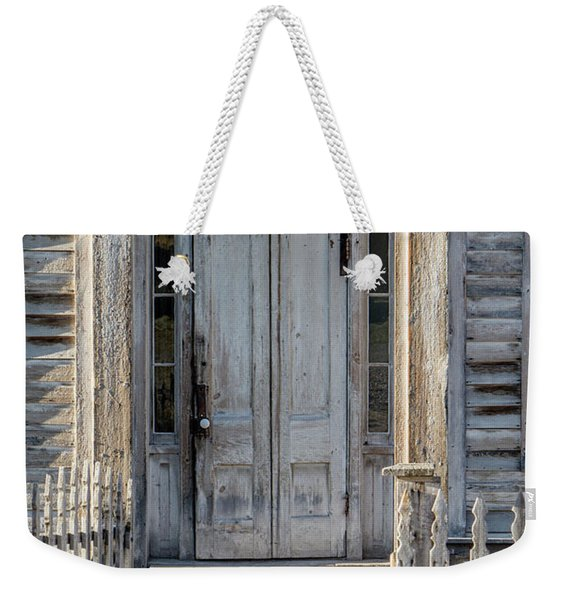 Door Of The Old Bannack Schoolhouse And Masonic Temple Weekender Tote Bag