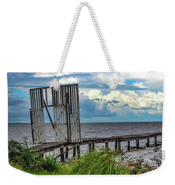 Door To Dock Weekender Tote Bag