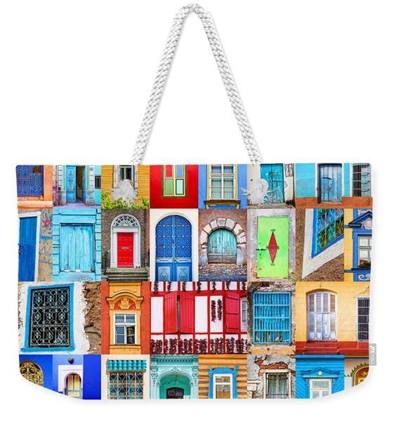 Doors And Windows Of The World - Vertical Weekender Tote Bag