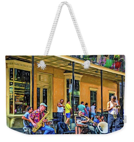 Doreen's Jazz New Orleans 2 - Paint Weekender Tote Bag