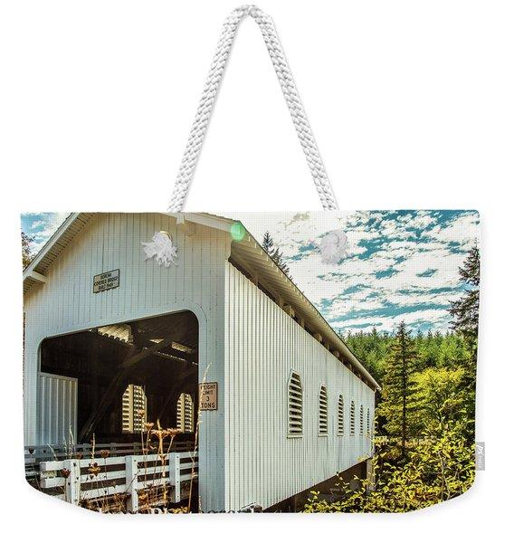 Dorena Covered Bridge Weekender Tote Bag