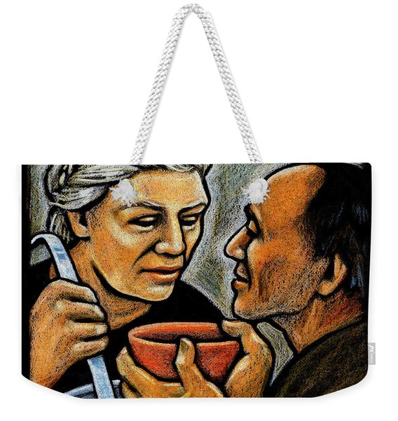 Dorothy Day Feeding The Hungry - Jlddf Weekender Tote Bag