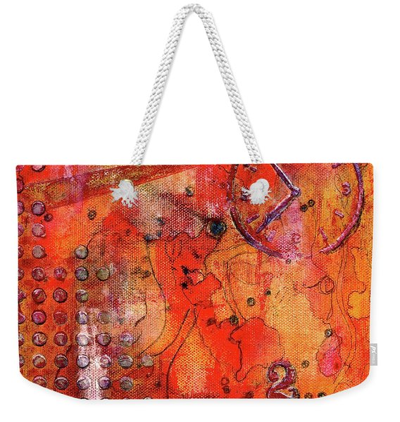 Dot Of Time Weekender Tote Bag