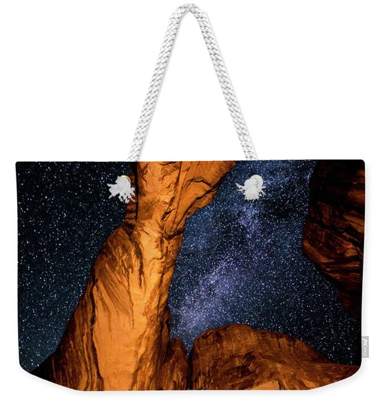 Double Arch And The Milky Way - Utah Weekender Tote Bag