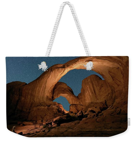 Double Arch And The Milky Way - Arches National Park - Moab, Utah By Olena Art - Brand  Weekender Tote Bag