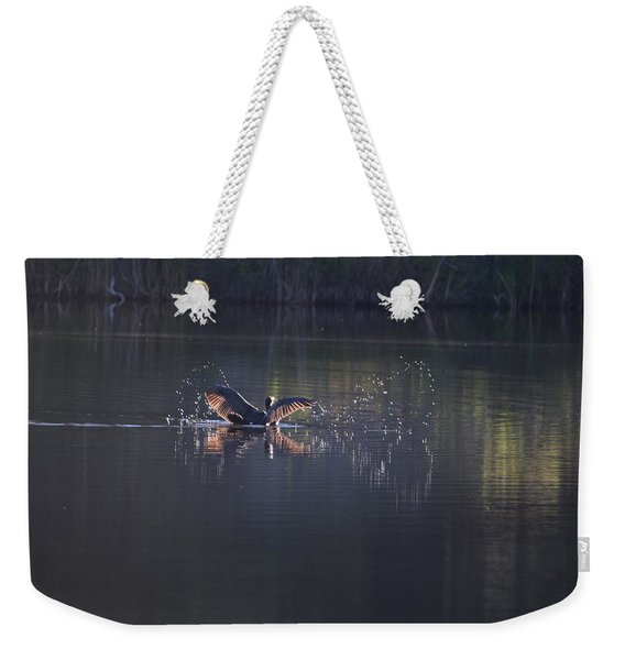 Weekender Tote Bag featuring the photograph Double Crested Cormorant by Margarethe Binkley