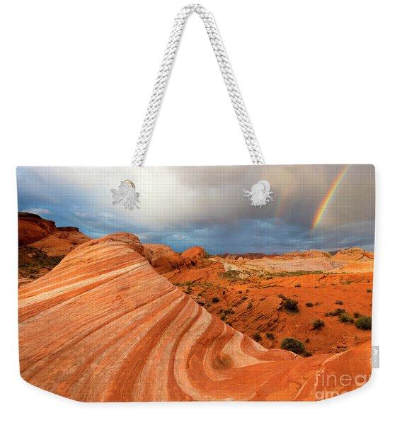 Double Desert Rainbow Weekender Tote Bag