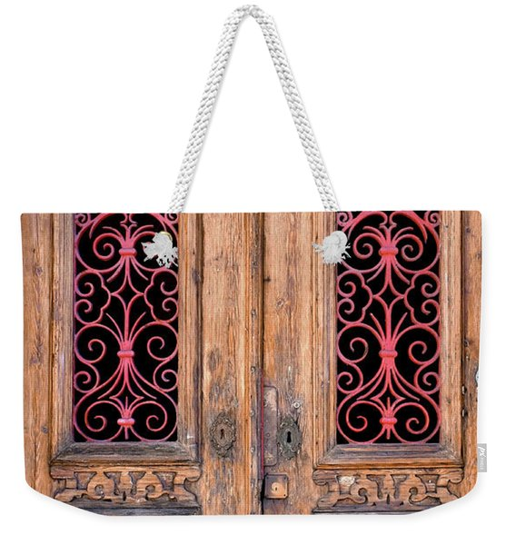 Double Door Weekender Tote Bag