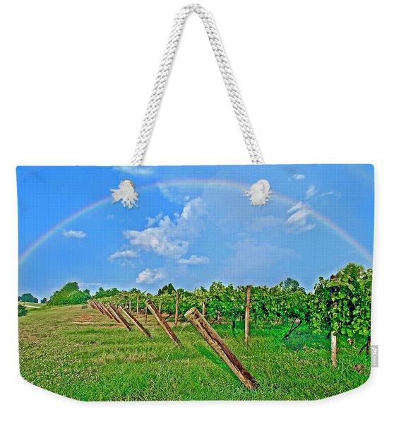 Double Rainbow Vineyard, Smith Mountain Lake Weekender Tote Bag