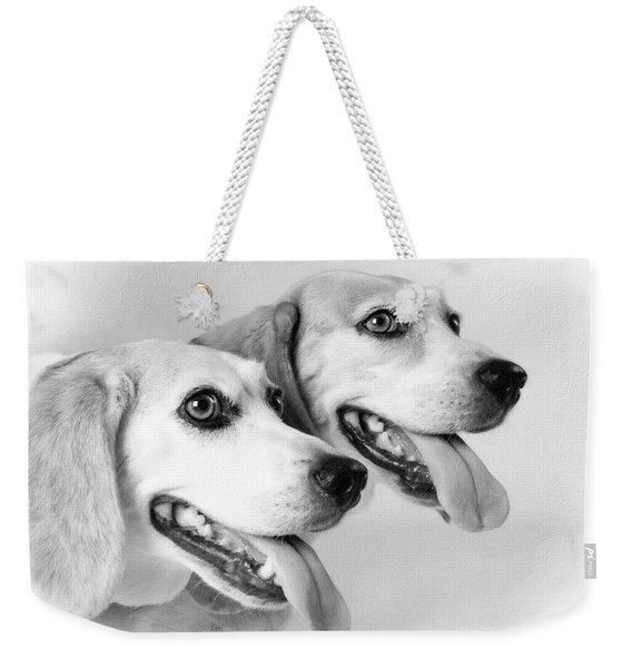 Double Trouble Weekender Tote Bag