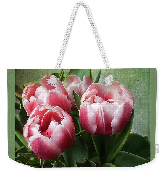 Double Tulips Weekender Tote Bag