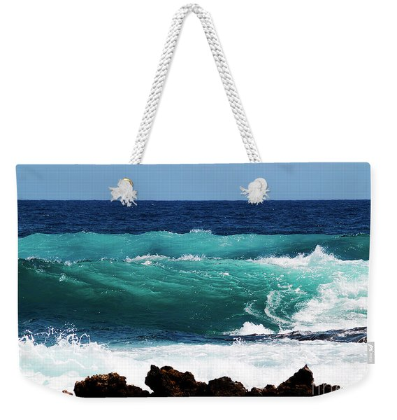 Double Waves Weekender Tote Bag