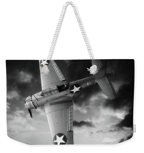Douglas Sbd Dauntless Black And White Weekender Tote Bag