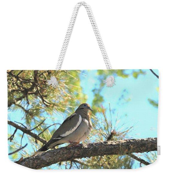 Dove In Pine Tree Weekender Tote Bag