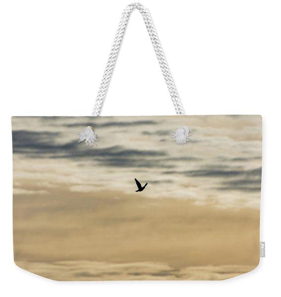 Dove In The Clouds Weekender Tote Bag