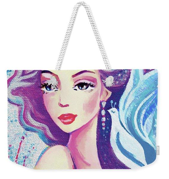 Dove Mermaid Weekender Tote Bag