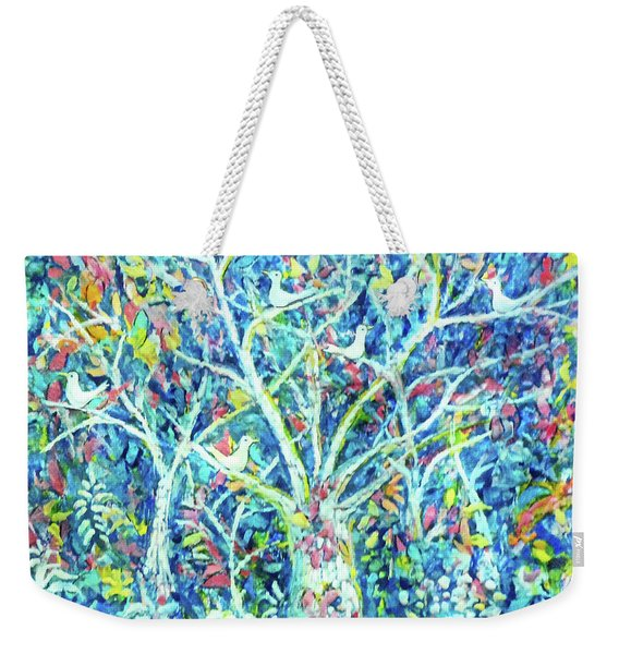 Doves In Trees Weekender Tote Bag