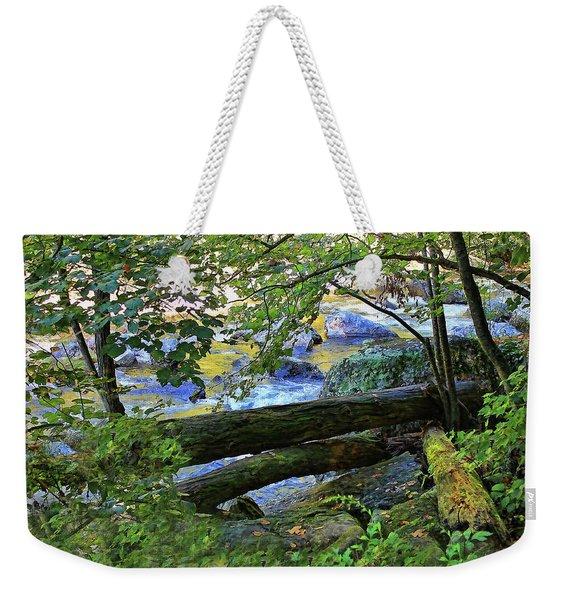 Down By The River Weekender Tote Bag