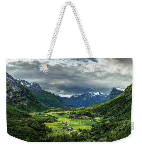 Weekender Tote Bag featuring the photograph Down In The Valley by Dmytro Korol