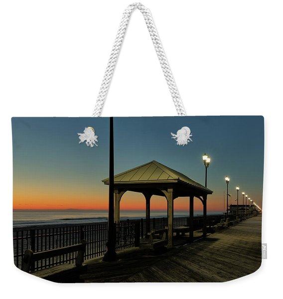Down The Shore At Dawn Weekender Tote Bag