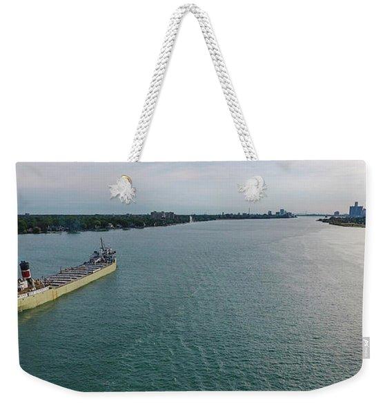 Downbound At Belle Isle Weekender Tote Bag