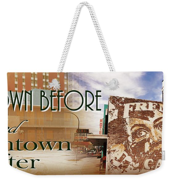 Downtown Before And Downtown After Weekender Tote Bag