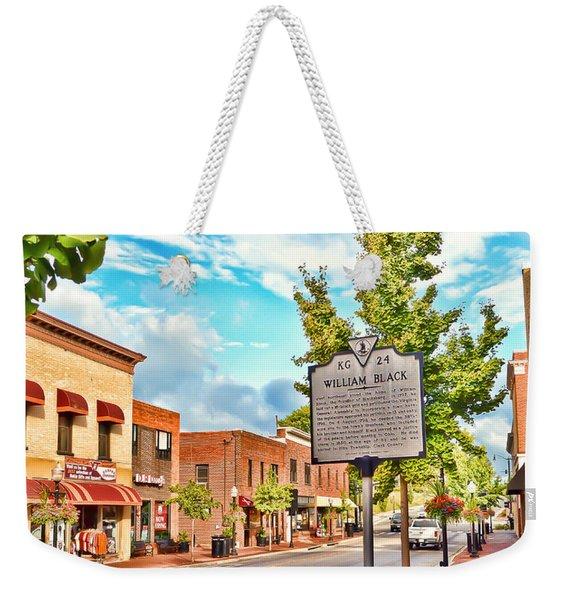 Downtown Blacksburg With Historical Marker Weekender Tote Bag