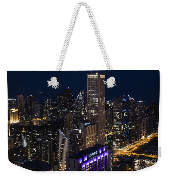 Downtown Chicago Weekender Tote Bag