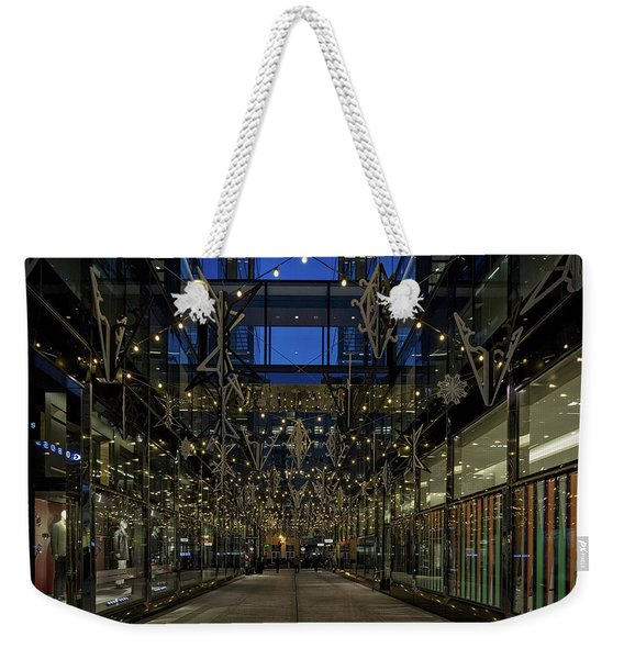 Downtown Christmas Decorations - Washington Weekender Tote Bag