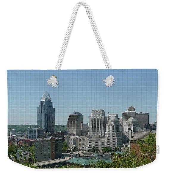 Downtown Cincinnati Weekender Tote Bag