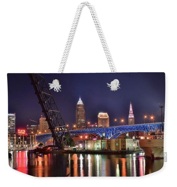 Downtown Cleveland Weekender Tote Bag