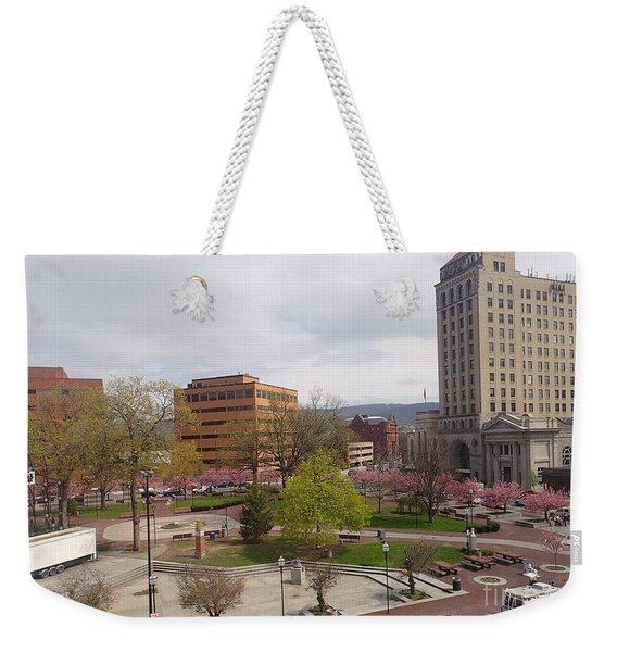 Downtown In Springtime Weekender Tote Bag