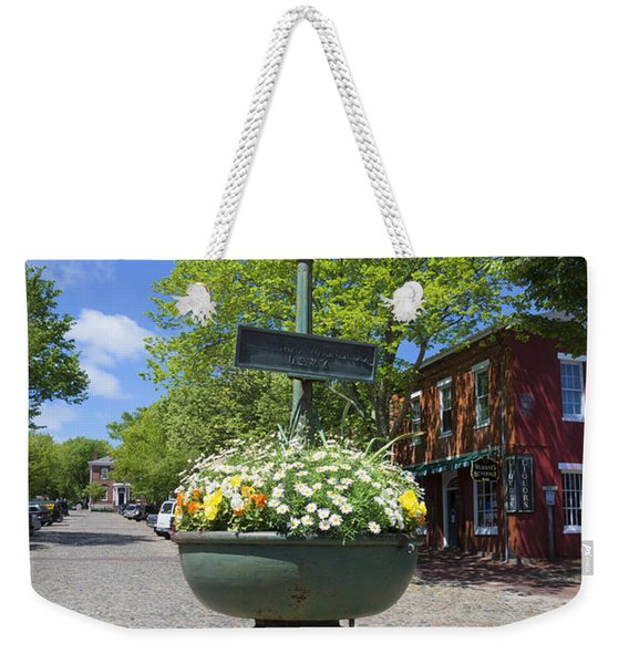 Downtown Nantucket - Garden View 46y Weekender Tote Bag