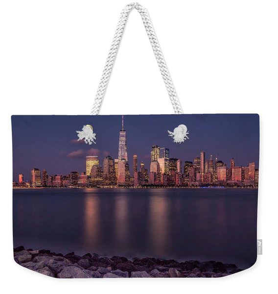 Downtown Nyc At Sunset Weekender Tote Bag