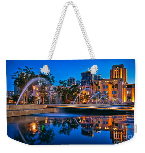 Weekender Tote Bag featuring the photograph Downtown San Diego Waterfront Park by Sam Antonio Photography